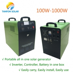 Protable generator 500W DC to AC Solar Power System for home use