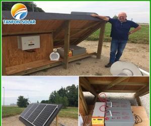 Tanfon 1kw off grid solar system in Denmark