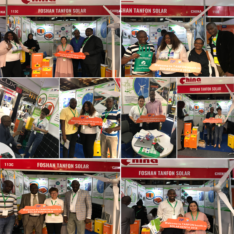 Foshan Tanfon Solar attend the Kenya Solar Products Fair