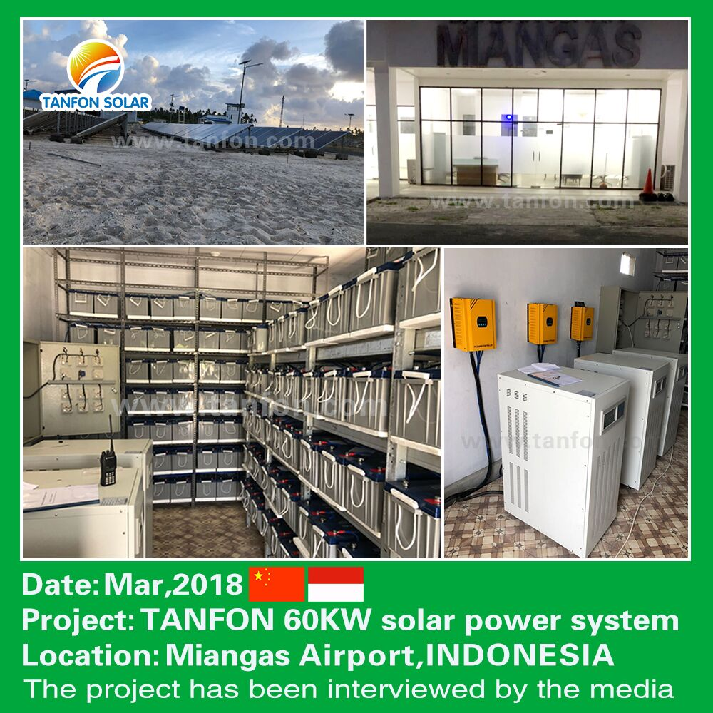 60 kw solar power system projects for Airport buildings used in Indonesia