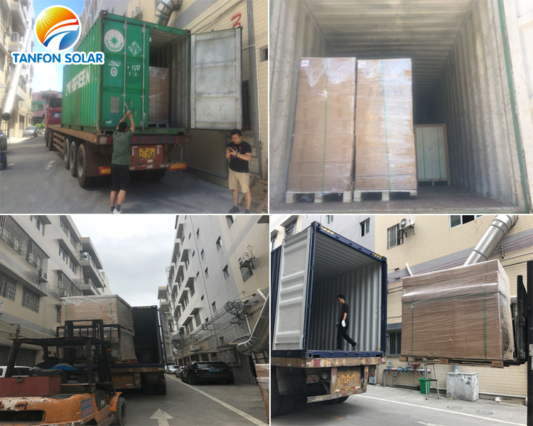 Tanfon solar panel systems loading containers
