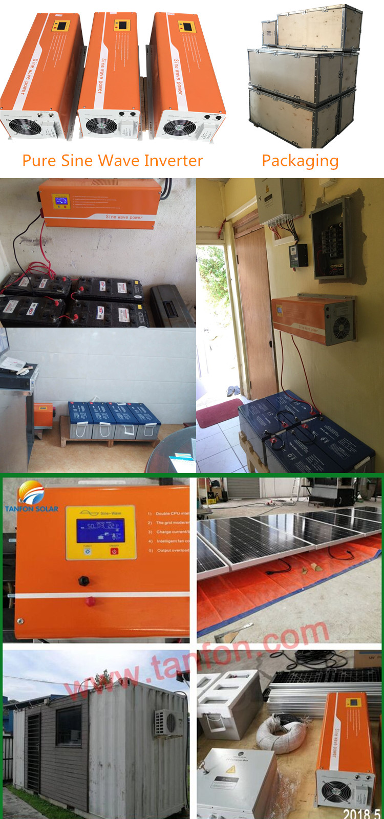 inverter pure sine wave off grid power for solar system
