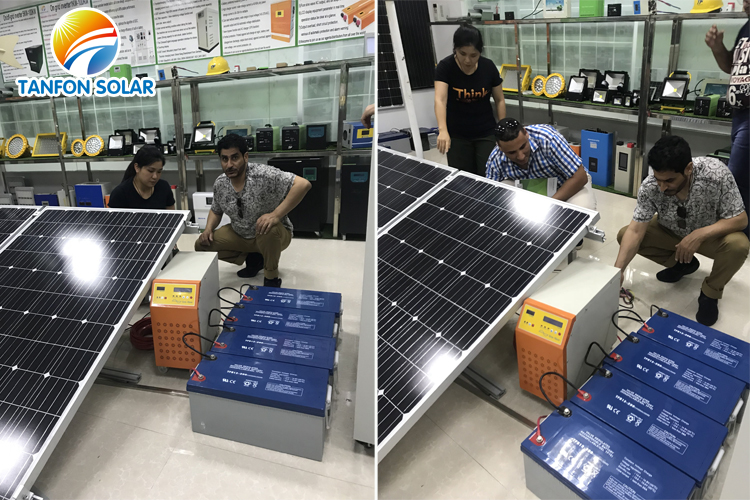 solar off grid system without battery for air conditioner used