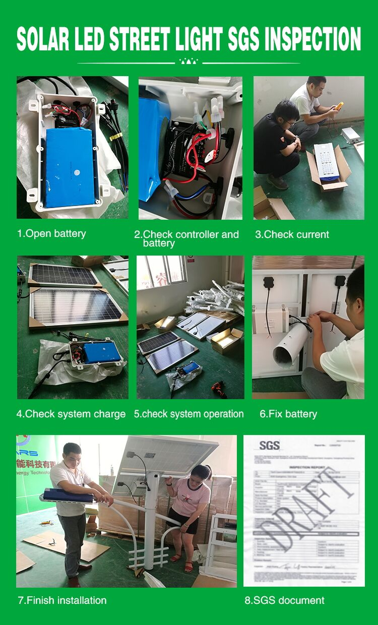 Tanfon solar led street light SGS inspection