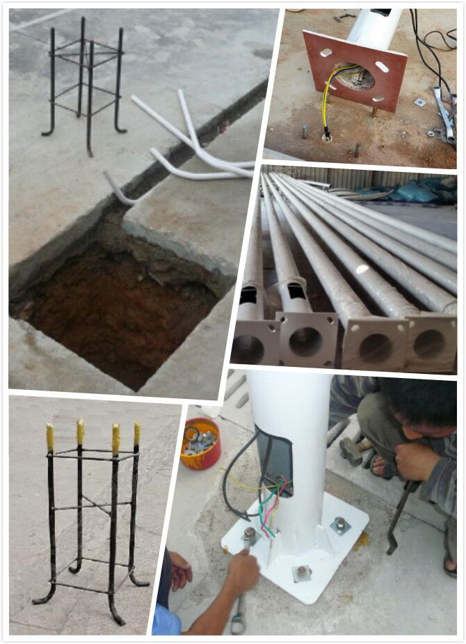 solar light pole and mounting kits