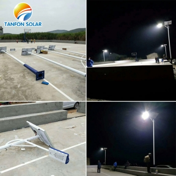 solar led light system installation