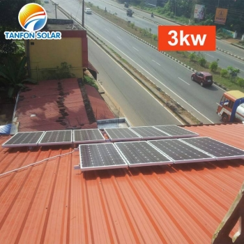 3 kw roof mount solar panel system