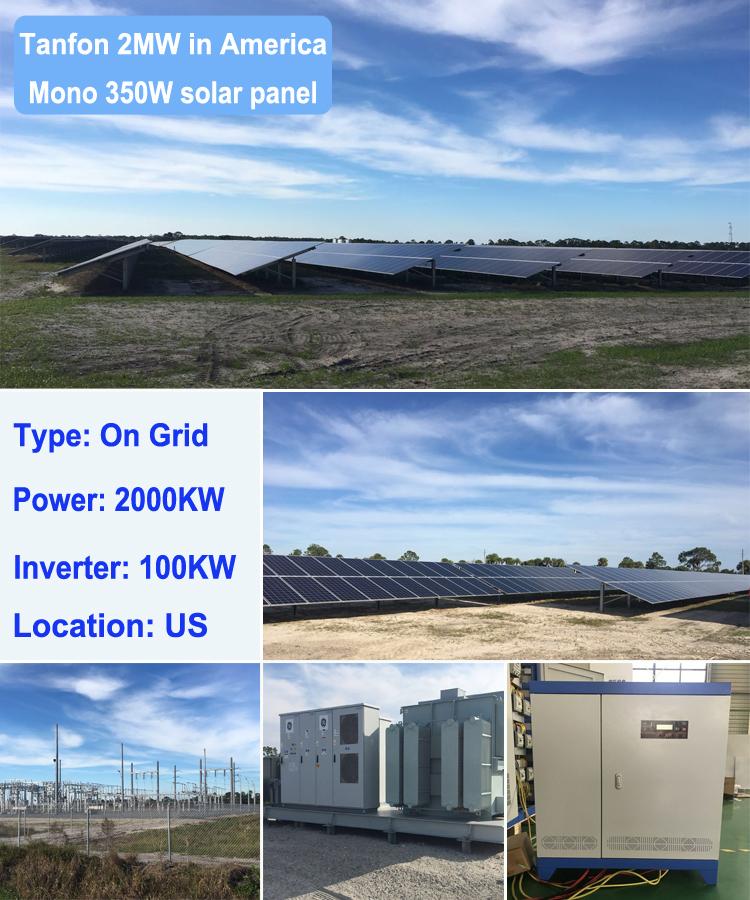 2MW solar panel project