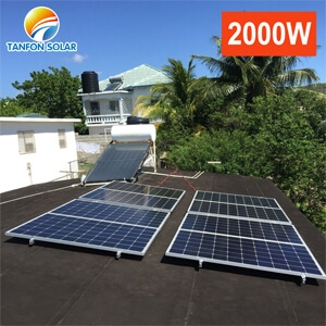 2kwp off grid solar power system working without battery