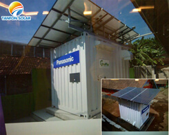 Container house installation solar system