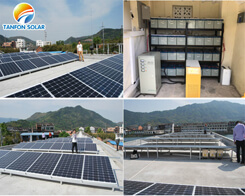 Rural community electricity supply solar power system