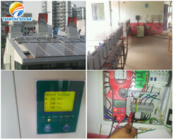 Hotel used solar power system