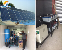 Solar power system for water treatment equipment