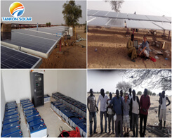 Military base power supply solar system project