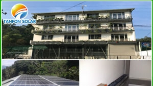 TANFON 3kw off grid solar system for 4 floors building used