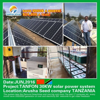 30kw solar system project in Tanzania