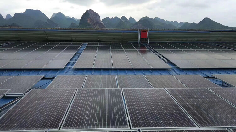 solar panel system mounted in archipelago
