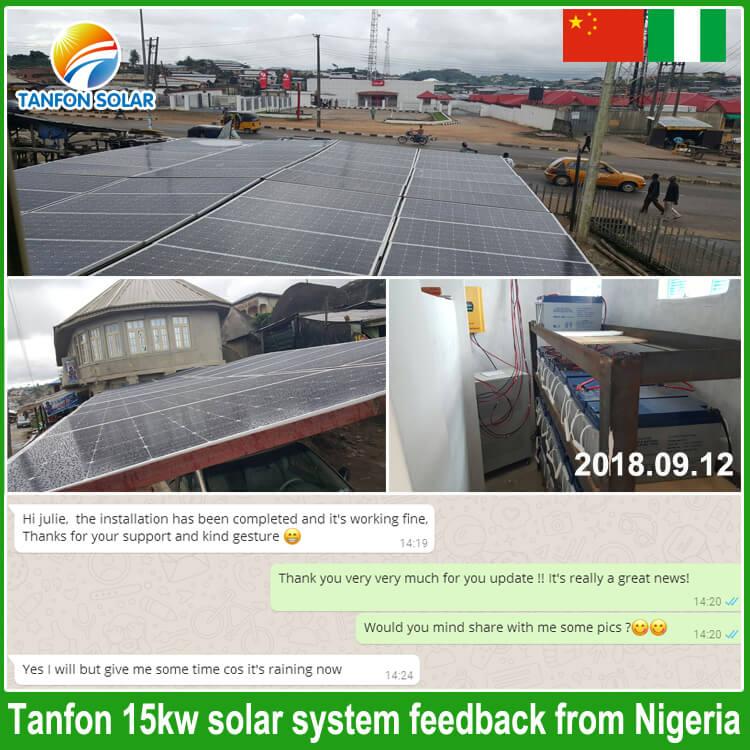 15kw solar energy system in Nigeria