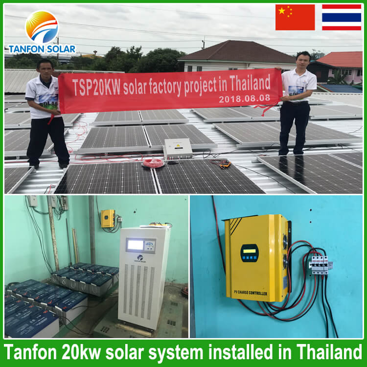 20kw solar power system for factory used