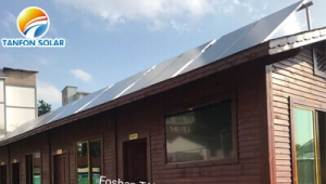 5KW solar power system installed in mountain house using