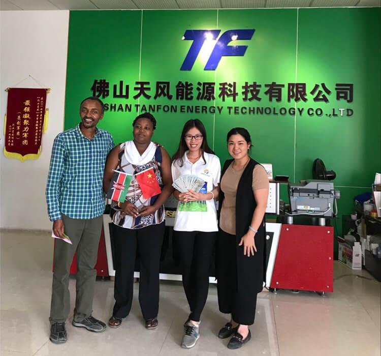 Kenya customer visited TANFON factory