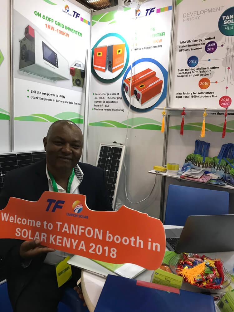 TANFON attended Fair of solar energy in Kenya