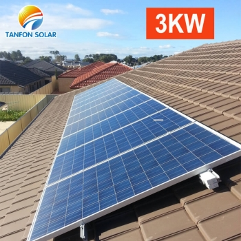 3kw solar panel roof mounted