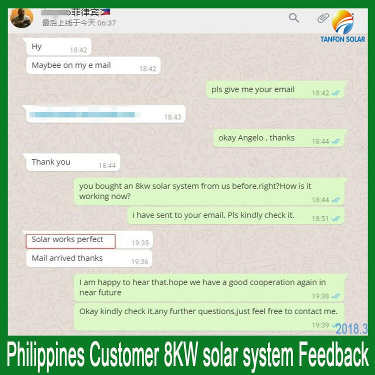 How Is 8kw Inverter Solar Power System Working In Philippines