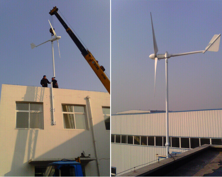 wind turbine installed