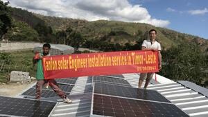 Tanfon 12kw solar farm system installation supportin Timor-leste