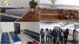 3-phase 30kw Solar System TANFON in Chad Military Base Project in 2016