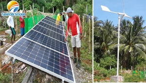 5kw hybrid solar wind power system installing in Philippines