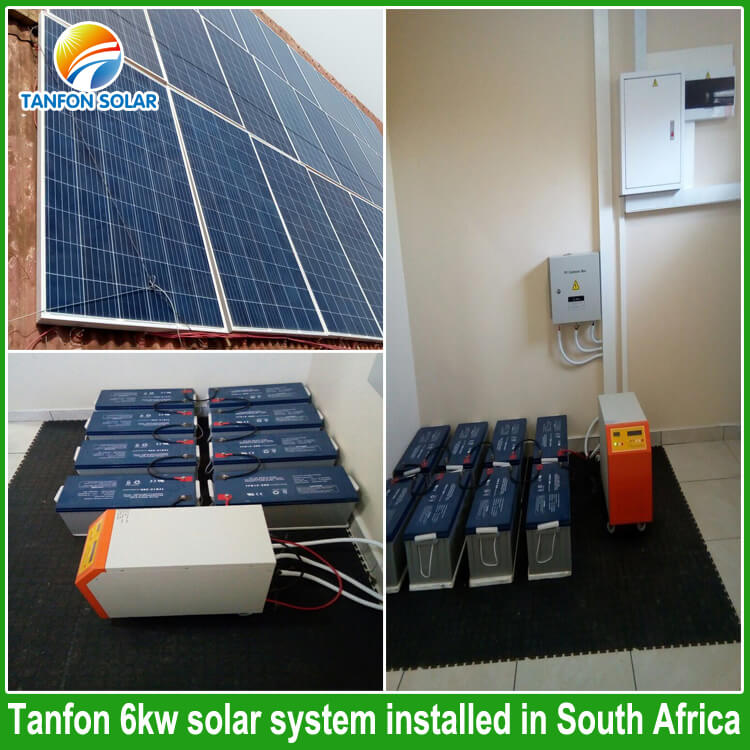 South Africa Solar Market 6000w Pv Panel Roof Mounting