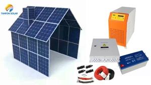 South Africa solar market 6000w pv panel roof mounting home power system