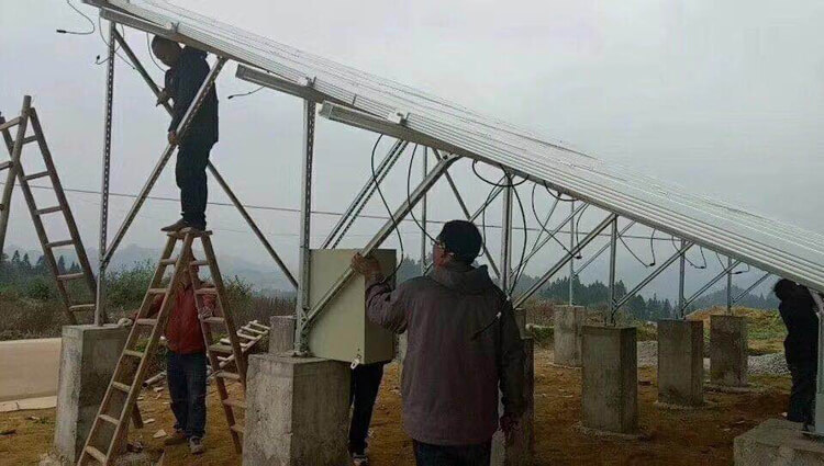 solar panel system for irrigation