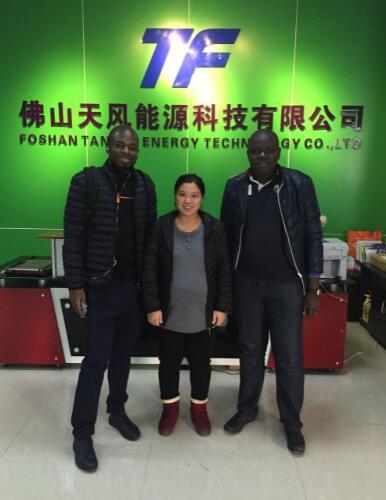 Burkina Faso customer visit TANFON factory