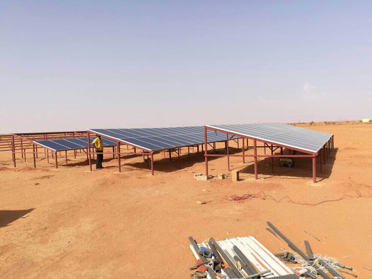 solar panel farm system