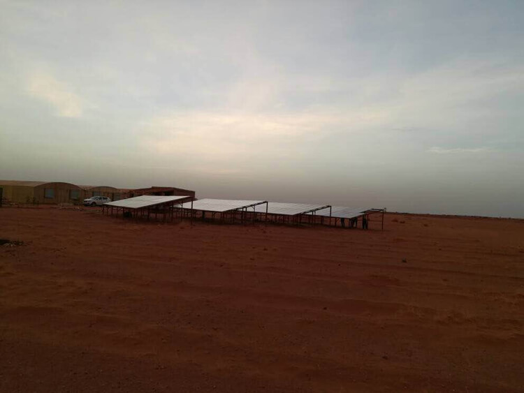 solar panels farm system