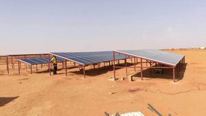 Tanfon 30kw solar water pumping system in Sudan