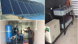Solar energy system generator water treatment equipment use