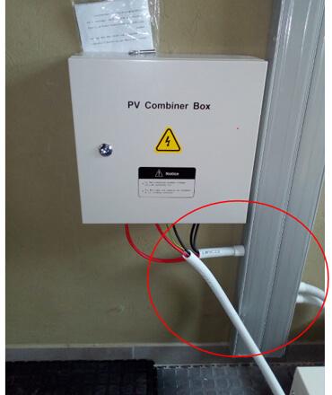 solar installation pv combiner