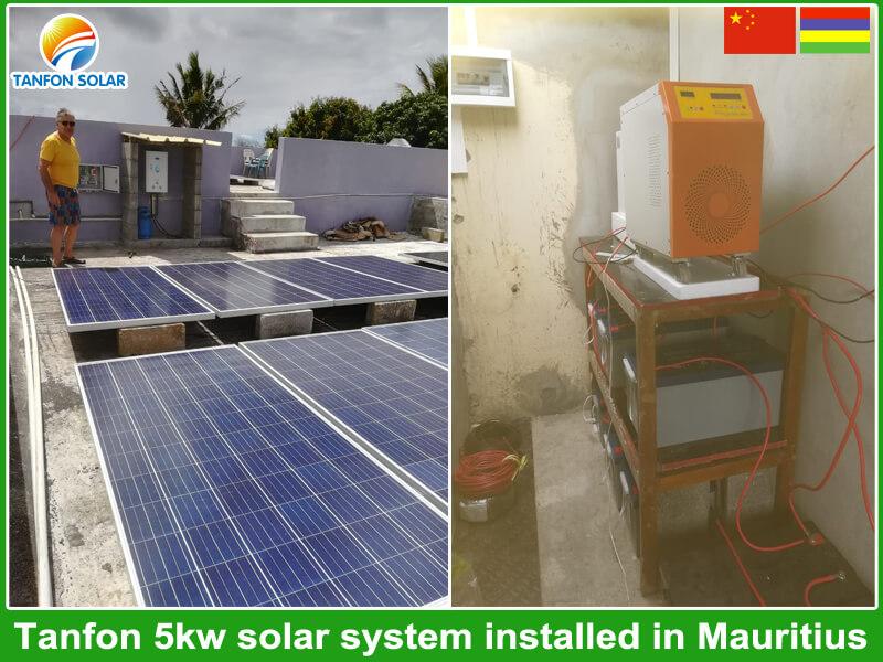 5kw residential solar energy for home