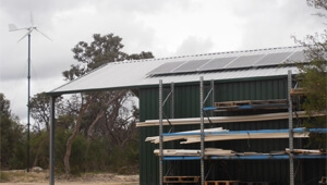 How is solar wind hybrid power system install in Australia?