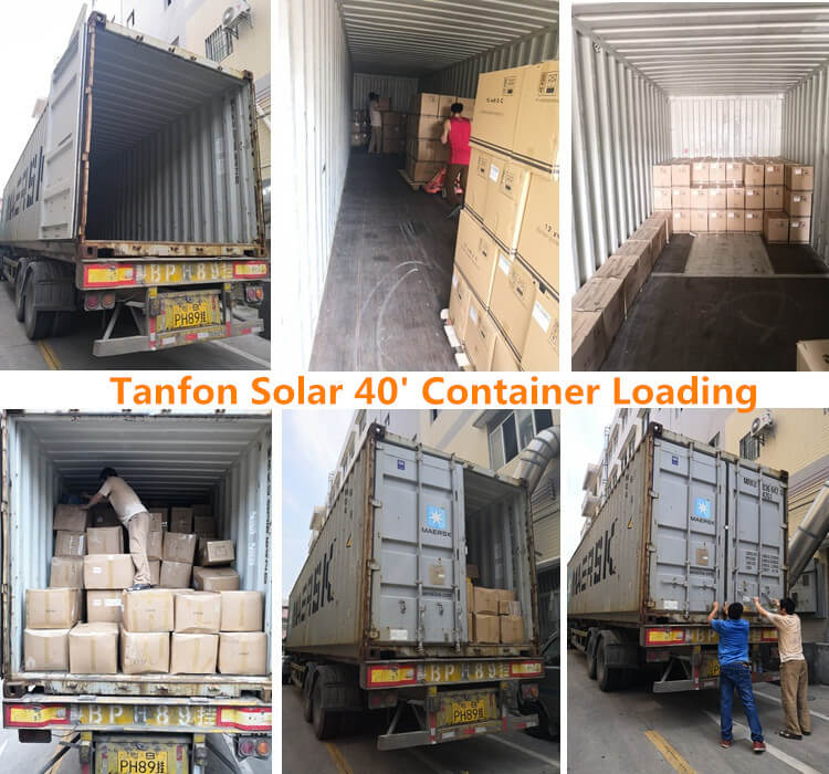solar battery generator loading container