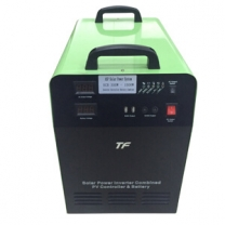 Solar battery generator portable system 300W DC and AC output