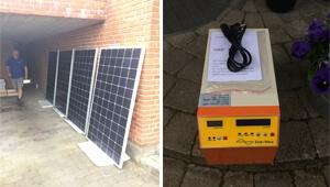 Tanfon 1kw solar system off grid power in Denmark
