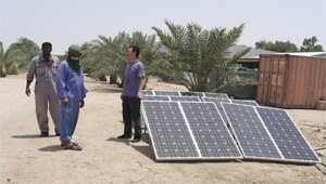 Tanfon engineer go to Qatar install 3kw solar panel system