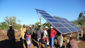 Tanfon 2HP Solar water pump system in Madagascar