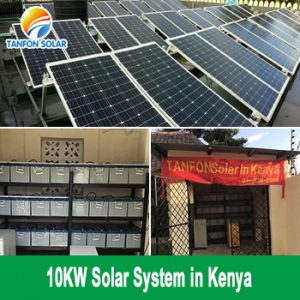 TANFON 10KW Inverter Solar Panel System Use for Small Resort in Kenya