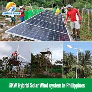 TANFON 5KW Hybrid Solar Wind Power System Installing in Philippines